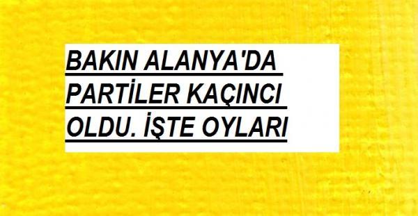 AK PARTİ ALANYA'DA BİRİNCİ