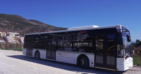Alanya Halk otobüslerine habersiz denetim
