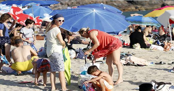 Alanyada plajlar tıklık tıklım
