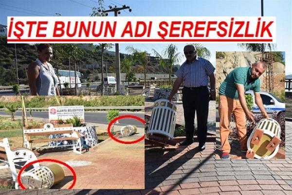 ALANYANIN PARKLARINA ZARAR VERİLDİ