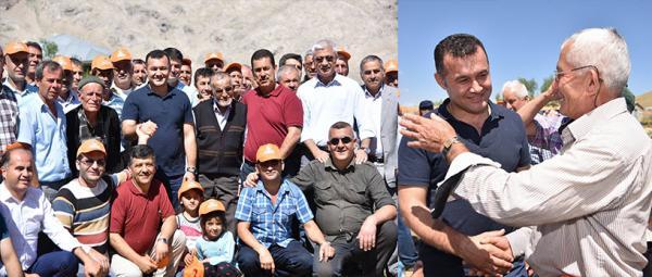 Başkan Yücel 16 Yayla halkının gönlünü fethetti