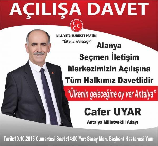 CAFER UYAR DAN DAVET