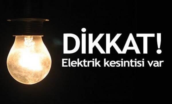DİKKAT! bu saatlerde elektrik yok