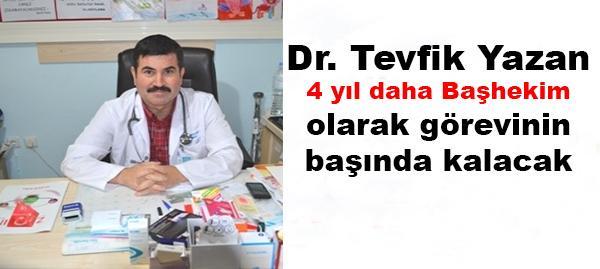 Dr. Yazan 4 yıl daha Başhekim