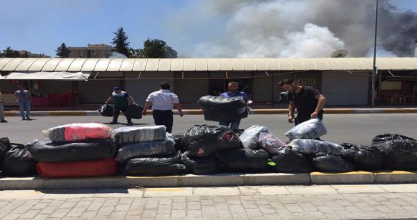 Festival Çarşısı'nda yangın çıktı