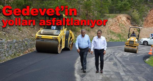 Gedevet'in yolları asfaltlanıyor