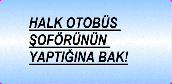 HALK OTOBÜS ŞOFÖRÜNÜN YAPTIĞINA BAK!