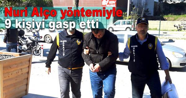 İlaçla 9 kişiyi gasp eden şahıs Alanya'da yakalandı
