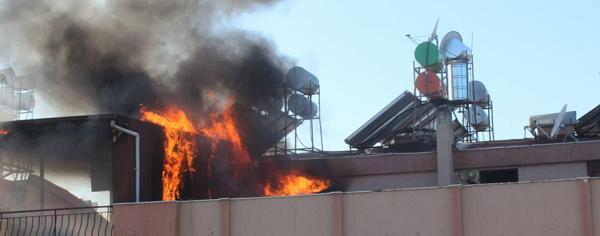 Korkutan teras yangını
