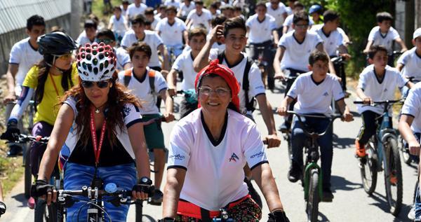 'Köyüm Bisiklete Biniyor' etkinliği