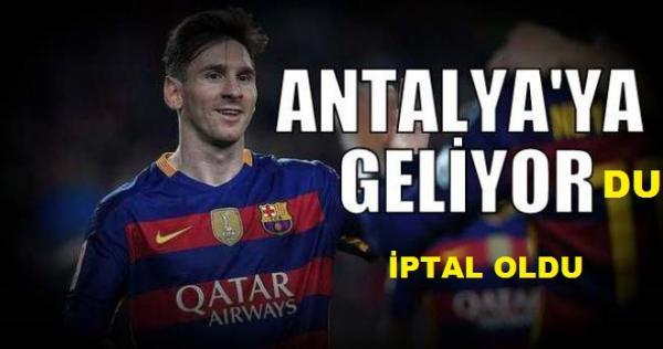 Messi'li maç iptal
