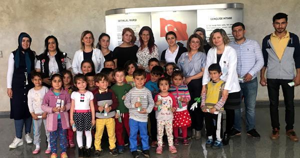 Öğrenciler Gazipaşa Devlet Hastanesi'ni gezdi