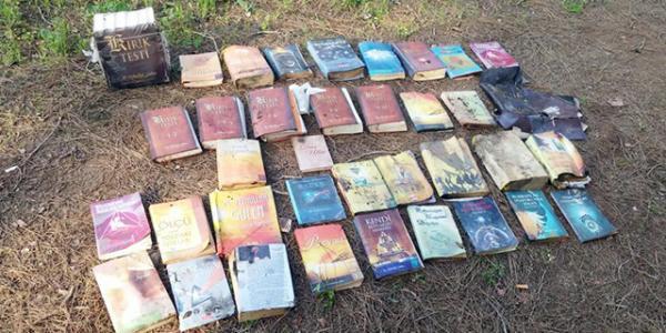 Ormanlık alanda FETÖ\\\'ye ait yasak yayınlar bulundu