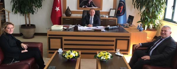 Şahin ve Kavukçu'dan rektör ziyareti