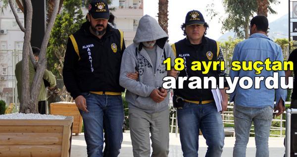 Suç makinesi Alanya'da yakalandı