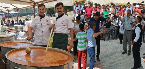 Tarhana şenliğinde 1 ton Tarhana çorbası dağıtıldı