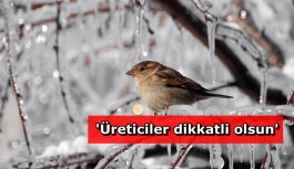 Bakanlıktan Antalya için don uyarısı