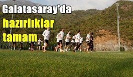 Galatasaray, Alanyaspor maçının hazırlıklarını tamamladı