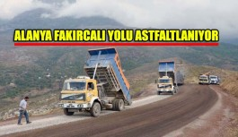 Fakırcalı yolu asfaltlanıyor