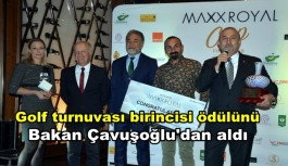 Bakan Çavuşoğlu, golf turnuvasının ödül törenine katıldı