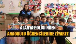 Alanya Polisi'nden anaokulu öğrencilerine ziyaret