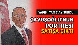 Çavuşoğlu'nun portresi satışa çıktı..