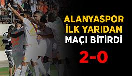 Alanyaspor ilk yarıda 2 golü buldu