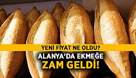 Alanya'da ekmeğe zam geldi! Yeni fiyat ne oldu?