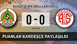Alanyaspor: 0 - Antalyaspor: 0