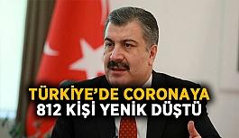 Türkiye'de Corona virüs bugünde kadar 812 kişi hayatını kaybetti