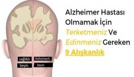 Alzheimer hastası olmamak için vazgeçmeniz gereken 9 alışkanlık