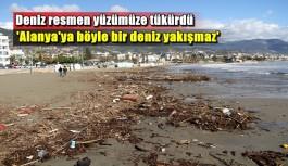 Alanya sahilleri çöplüğe döndü
