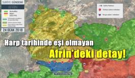 Harp tarihinde eşi olmayan Afrin'deki detay!