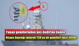 Yunan gemilerinden pes dedirten hamle