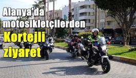 Alanya'da motosikletçilerden Kortejli ziyaret