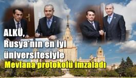 ALKÜ, Rusya'nın en iyi üniversitesiyle Mevlana protokolü imzaladı