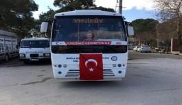 Halk midibüsü şoföründen Mehmetçiğe destek