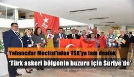 Yabancılar Meclisi'nden Zeytin Dalı Harekâtı'na tam destek