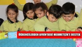 Alanya'da öğrencilerden Afrin'deki Mehmetçik'e destek