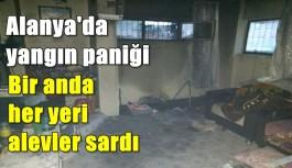 Alanya'da yanan ev korkuttu