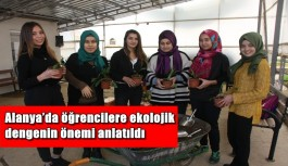 Alanya'da öğrencilere ekolojik dengenin önemi anlatıldı
