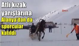 Atlı kızak yarışlarına Alanya'dan da sporcular katıldı
