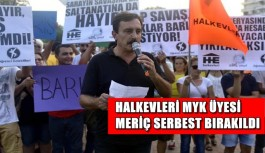 Halkevleri MYK üyesi Meriç serbest bırakıldı