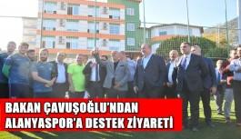 Bakan Çavuşoğlu'ndan Alanyaspor'a destek ziyareti