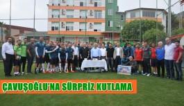 Çavuşoğlu'na sürpriz kutlama