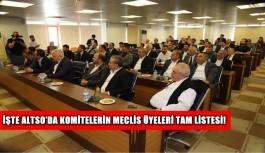 İşte ALTSO'da komitelerin Meclis Üyeleri tam listesi!