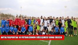 Antalyaspor'da 10 futbolcunun sözleşmesi sona erecek