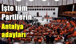 İşte tüm Partilerin Antalya adayları