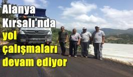 Alanya Kırsalı'nda yol çalışmaları devam ediyor
