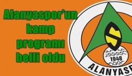 Alanyaspor'un kamp programı belli oldu